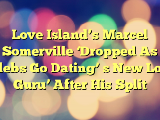 Love Island's Marcel Somerville 'Dropped As Celebs Go Dating' s New Love Guru' After His Split