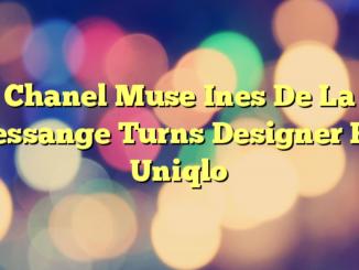 Chanel Muse Ines De La Fressange Turns Designer For Uniqlo