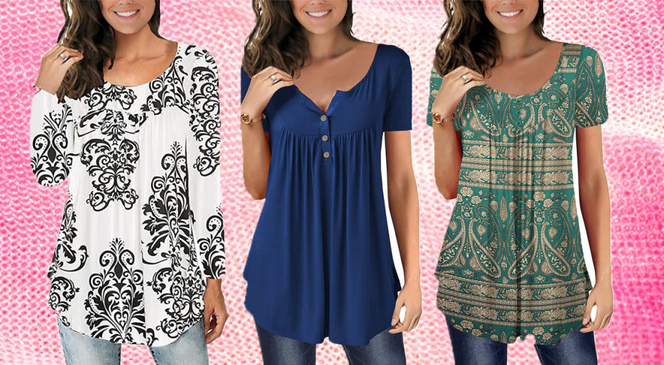 The Mystry Store Tunic Top is the perfect fall wardrobe addition. (Photo: Amazon/Shelly Still)
