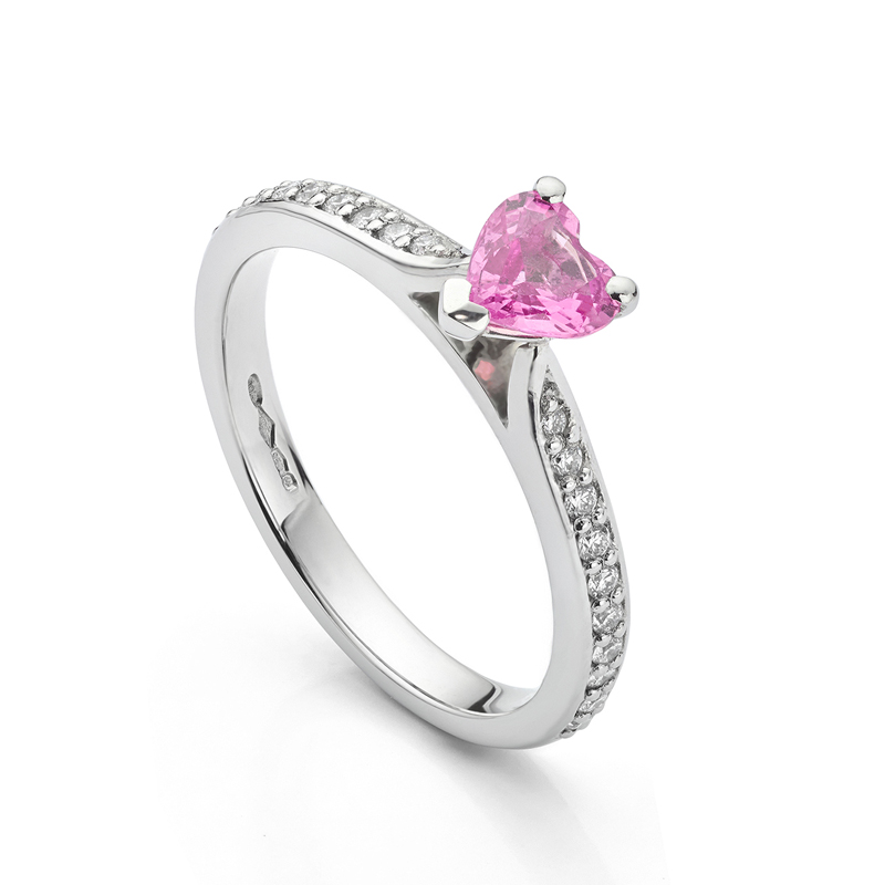 diamond shoulder ring