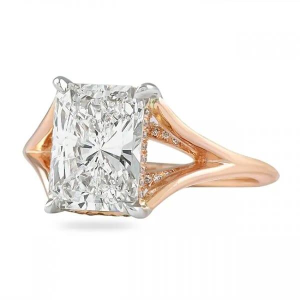 2.50 Carat Radiant Diamond Split Band Solitaire Ring